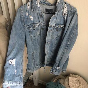 Distressed Lucky Brand Denim Jacket